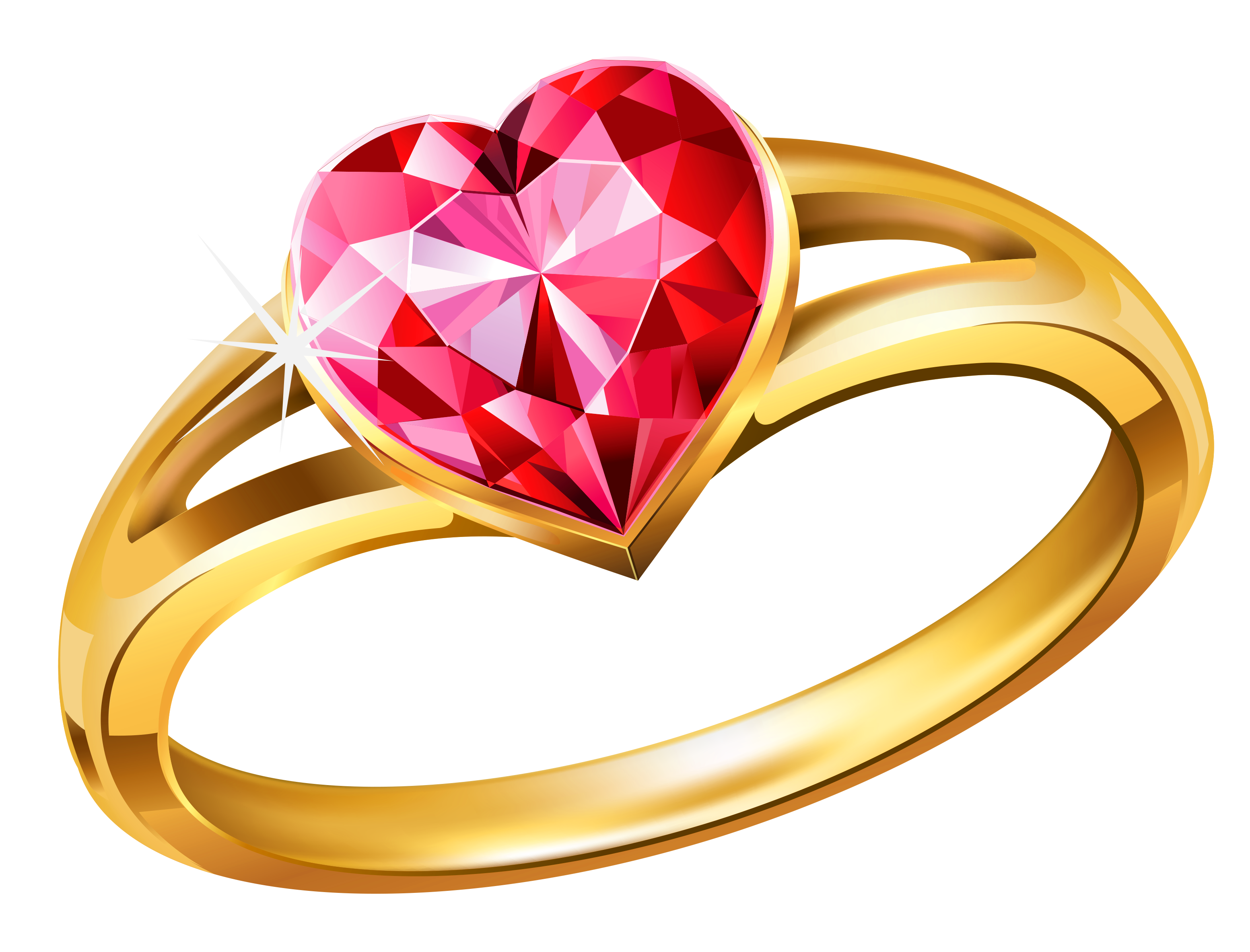 png freeuse library Gold ring with pink. Supermarket clipart coloring page