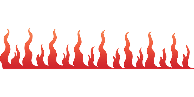 banner transparent Fire Border