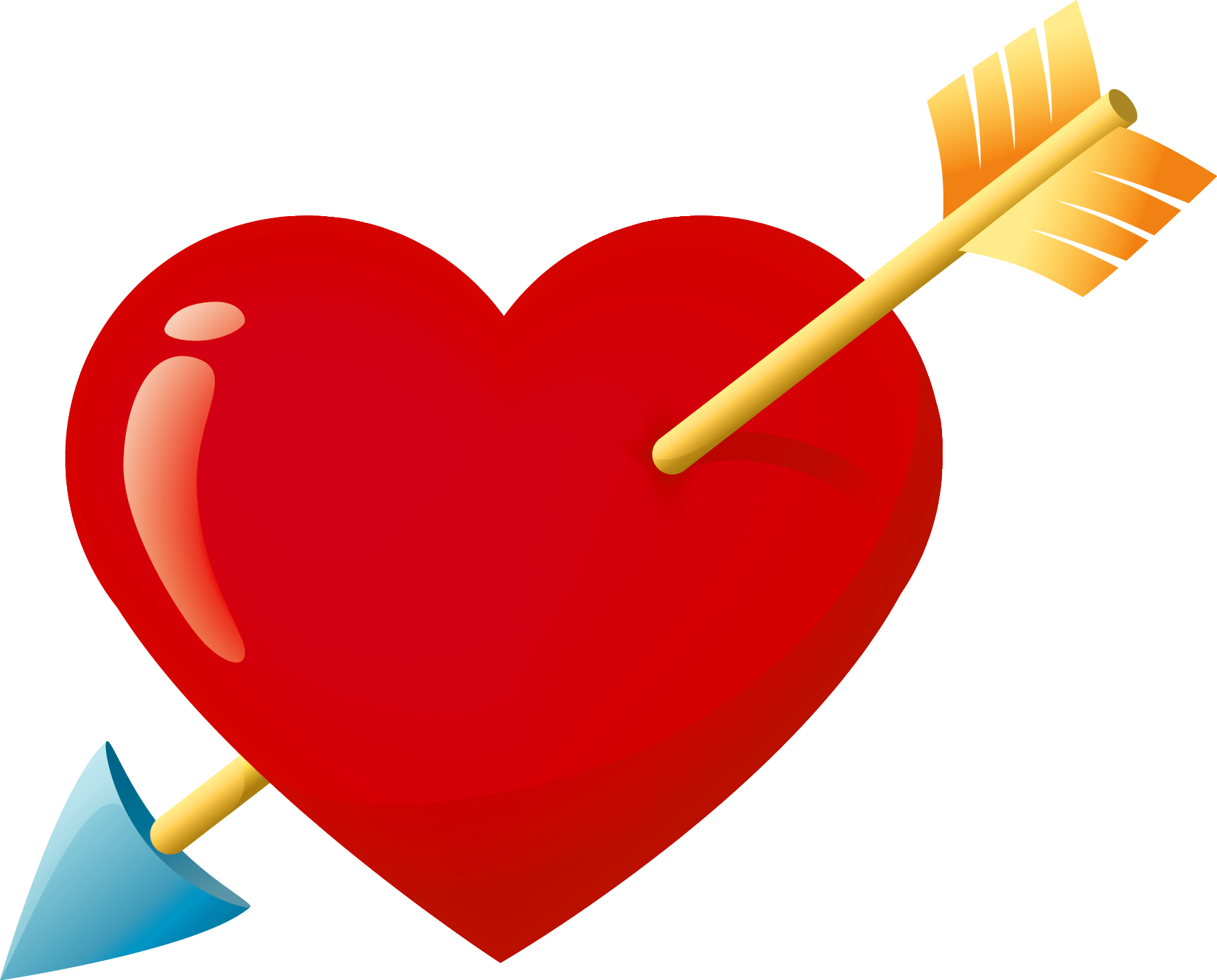 picture library library Arrows with hearts clipart. Valentine red heart arrow.