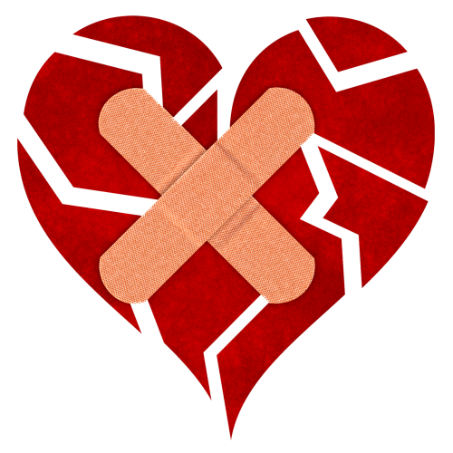 banner transparent Broken Heart PNG Image