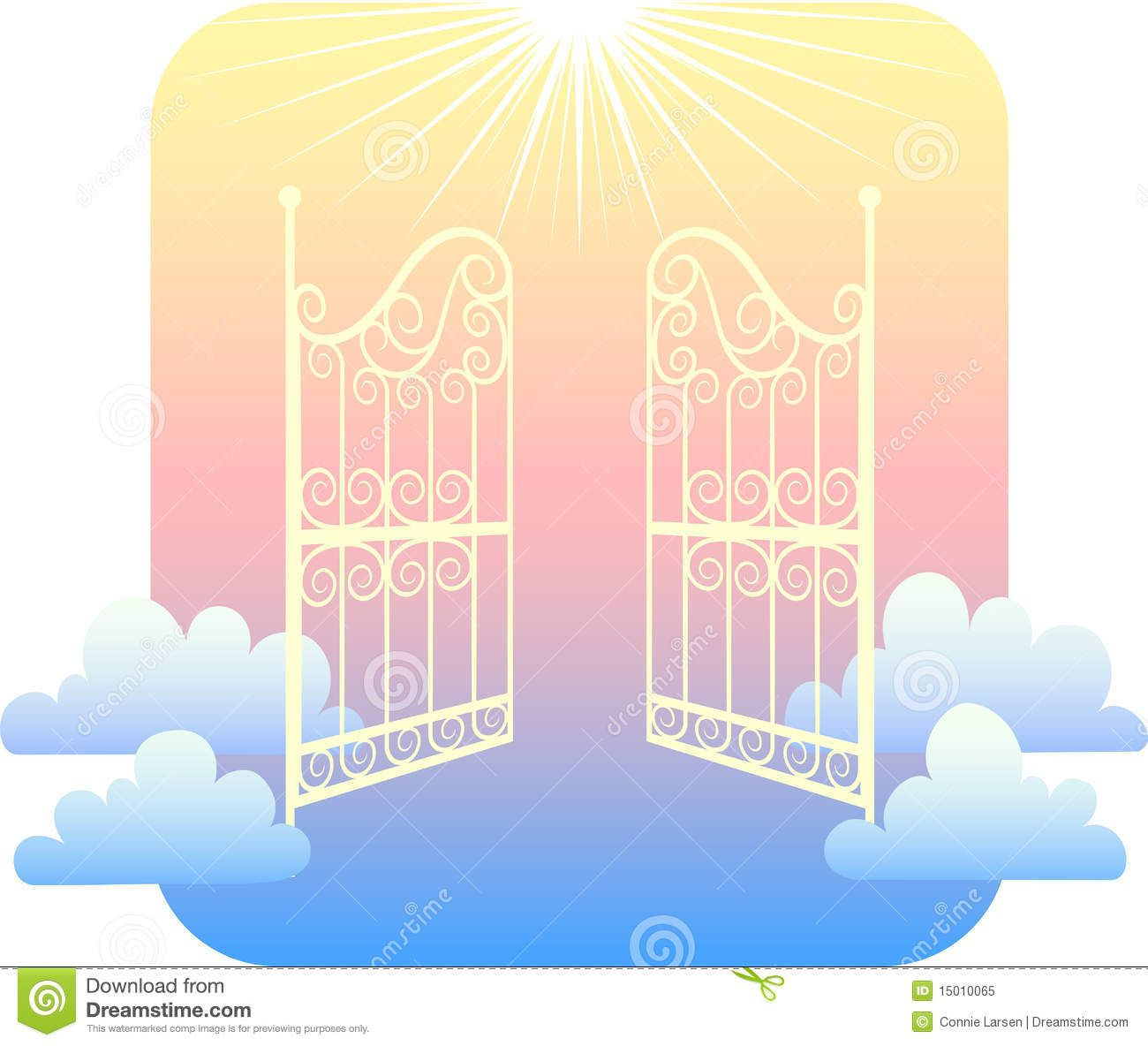 graphic royalty free stock Gates of images pictures. Heaven clipart.