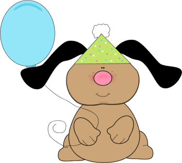banner freeuse Floppy dog birthday printables. Happy dogs clipart