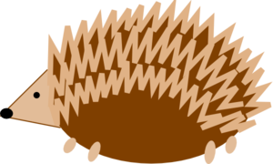 svg black and white Hedgehog clipart. Clip art at clker