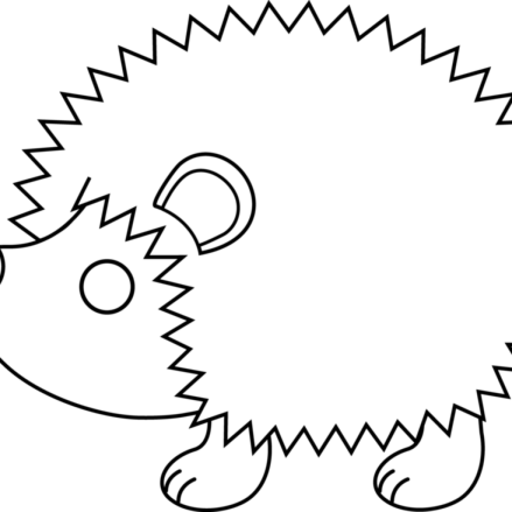 image stock Baby hatenylo com cute. Hedgehog clipart black and white