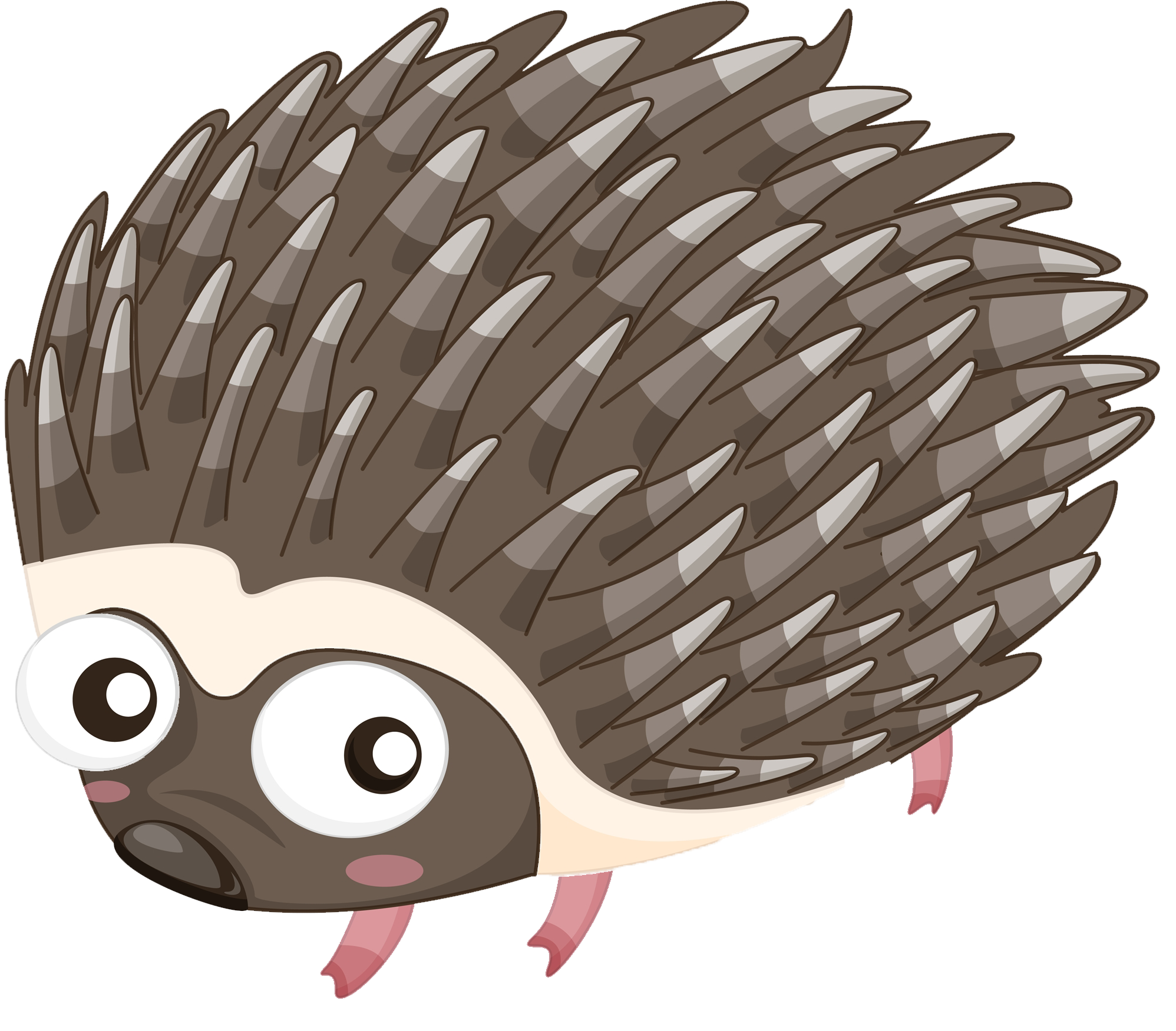 picture black and white library Cartoon illustration a. Hedgehog transparent porcupine