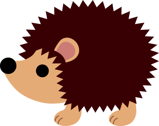 vector black and white stock Hedgehog Clipart
