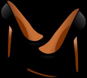 vector freeuse Black heels clip art. High heel clipart