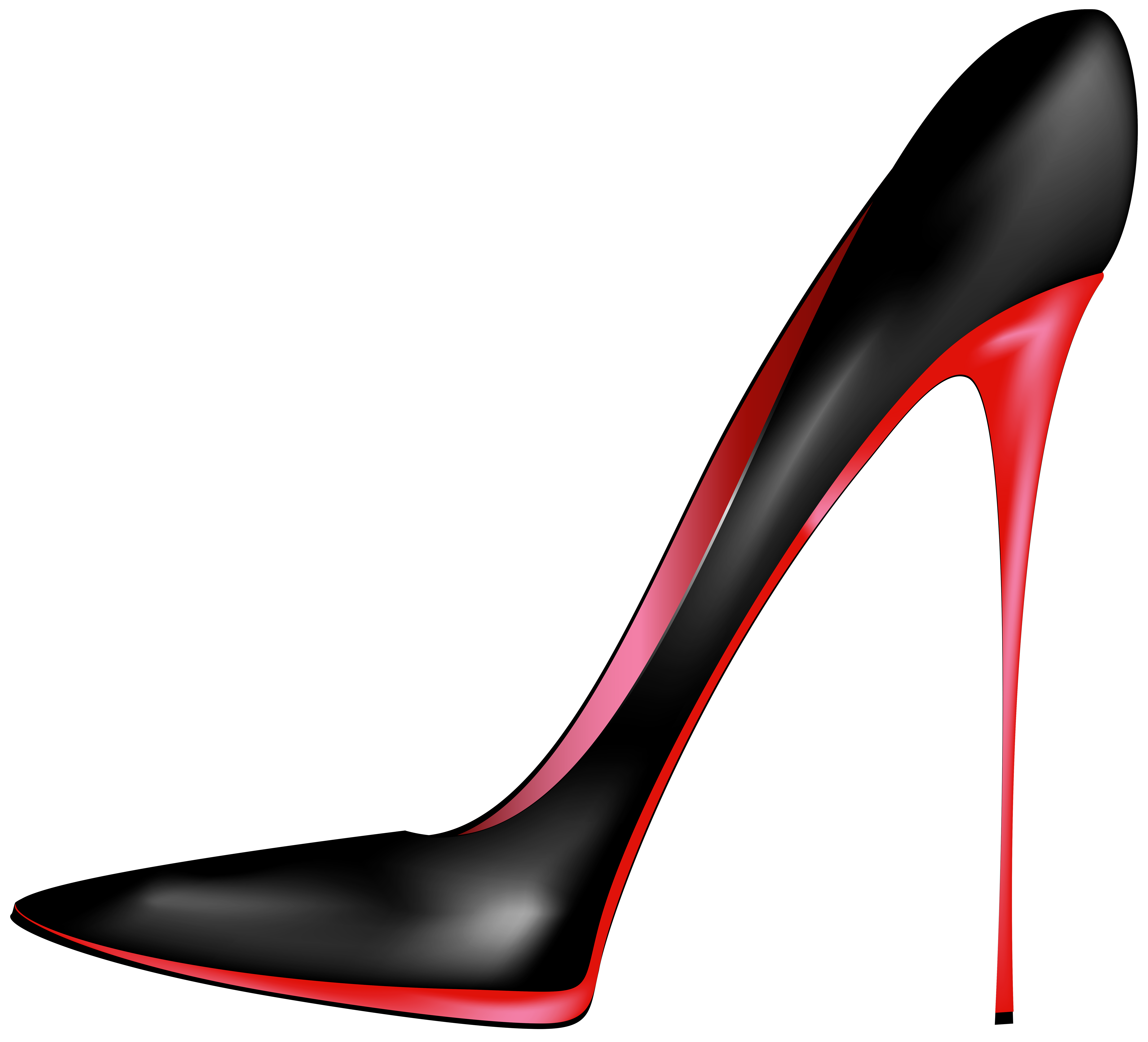 jpg black and white download Black red heels png. High clipart