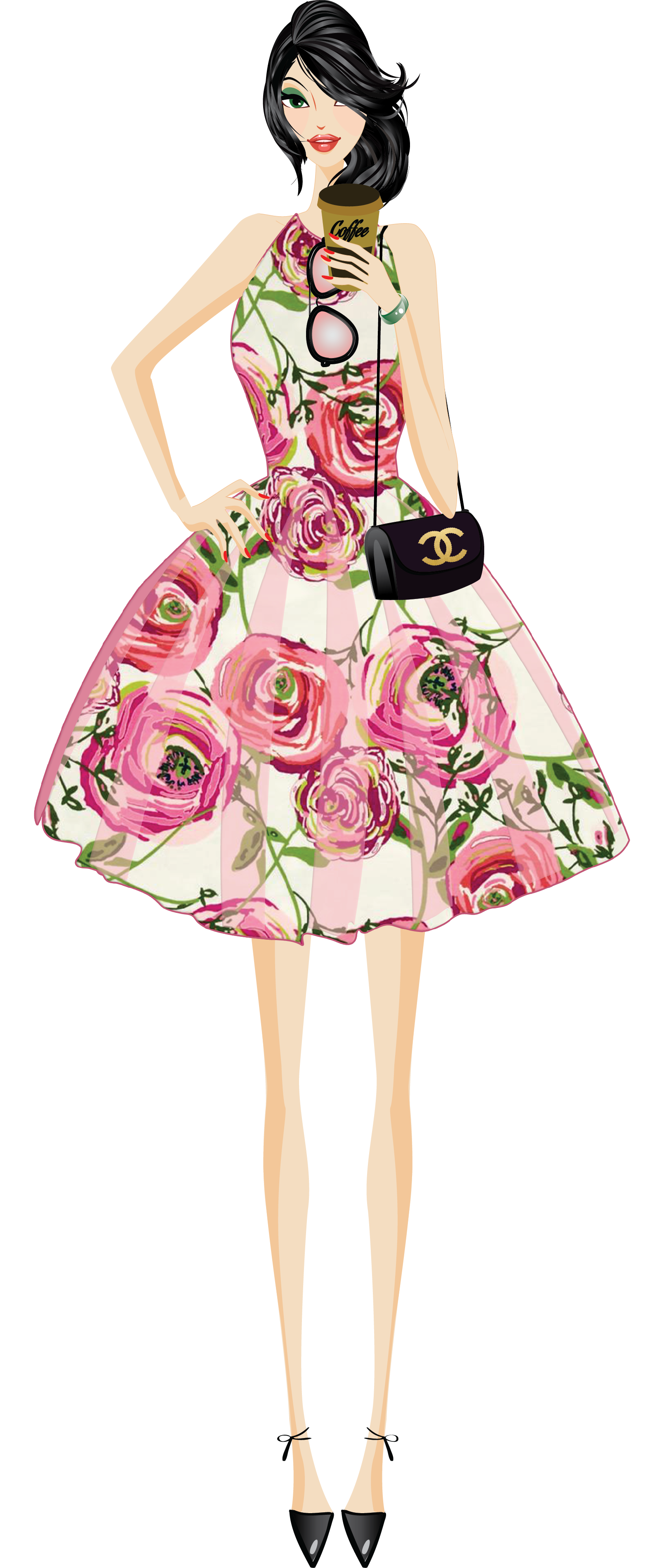 picture freeuse Fashion girl clip art. Heels clipart blouse skirt