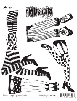 free stock Heels clipart daddy long leg. Dylusions rubber stamps legs