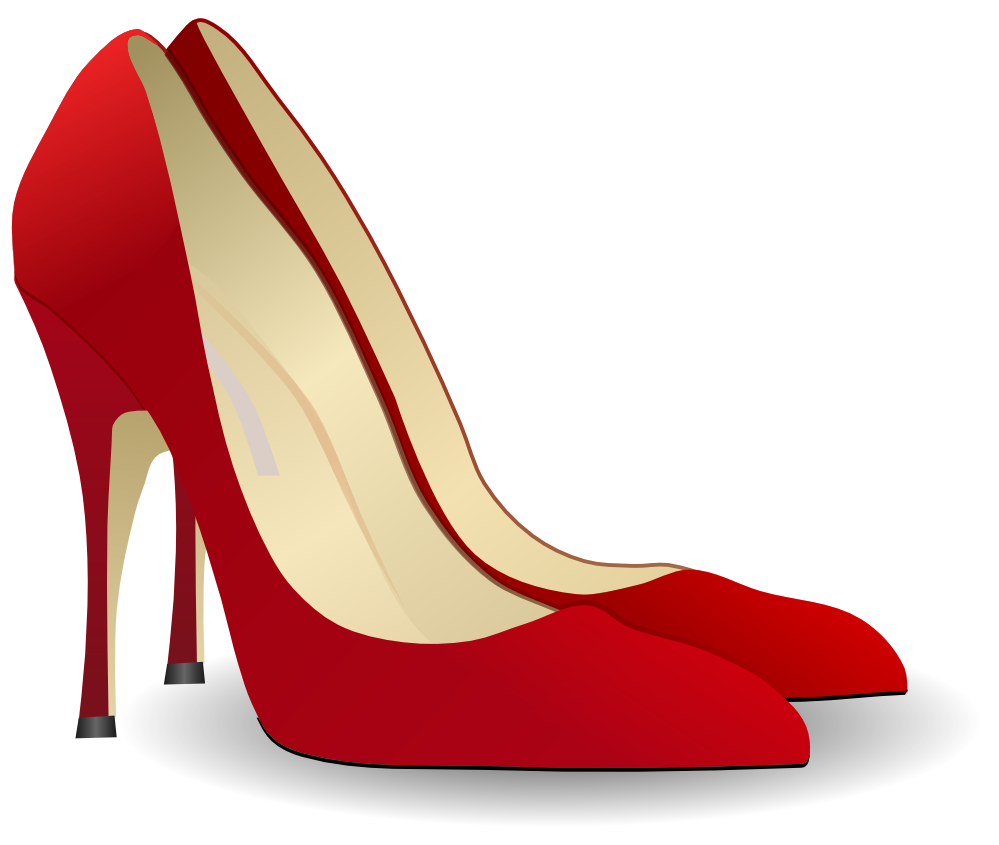 clip freeuse stock black and white high heel clipart