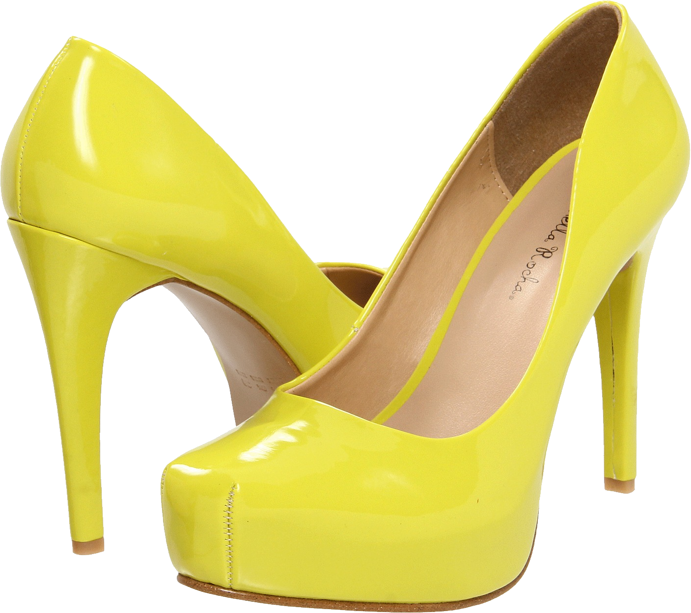 vector transparent library Womens shoes clipart. Yellow women shoe png