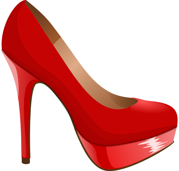 clip art freeuse library Svg red clip art. High heel clipart illustration.