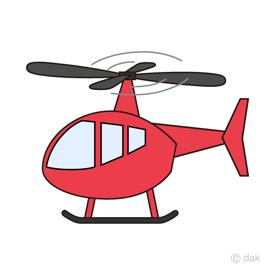 image transparent download Red free picture illustoon. Helicopter clipart