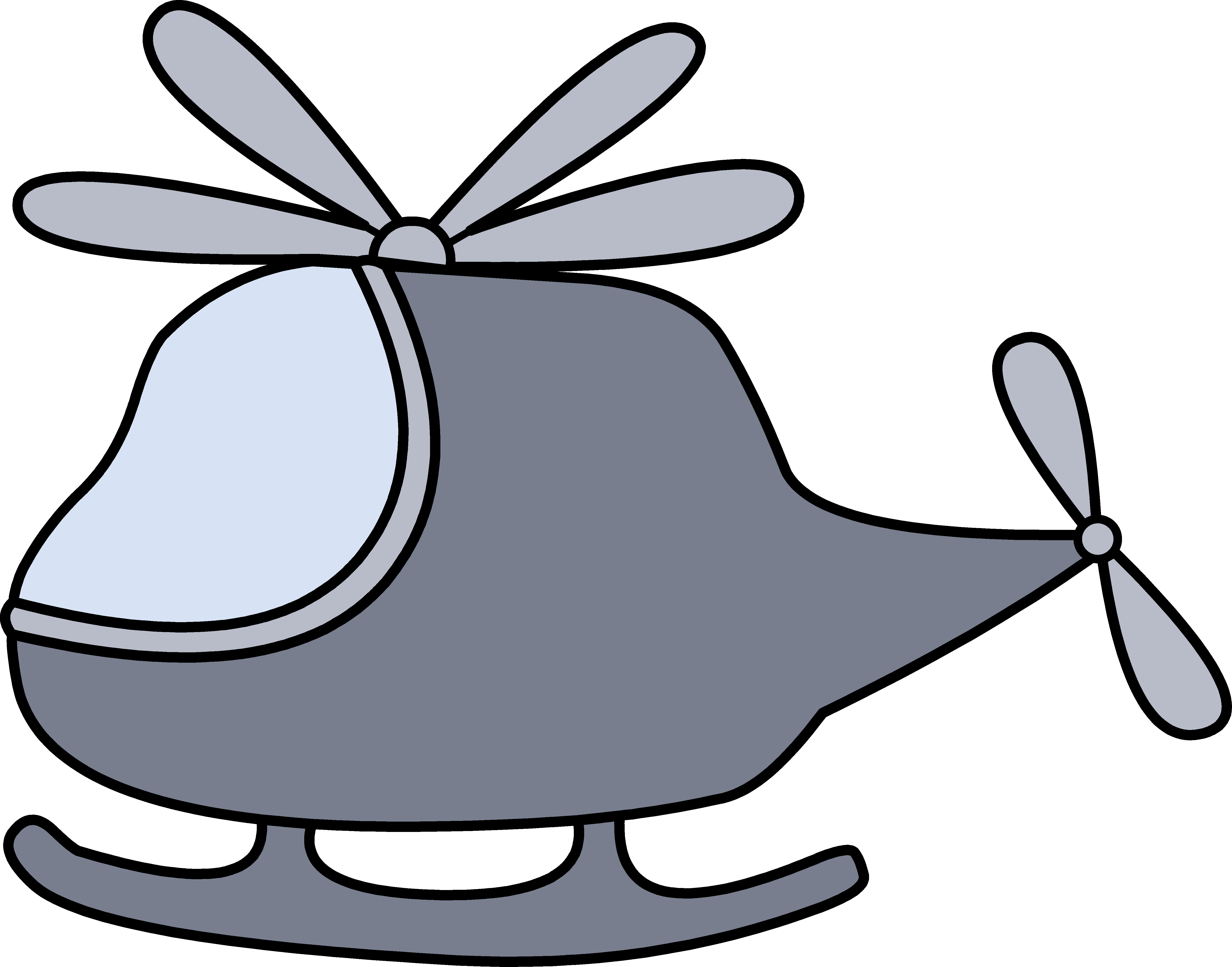 banner freeuse Little Gray Helicopter Clipart