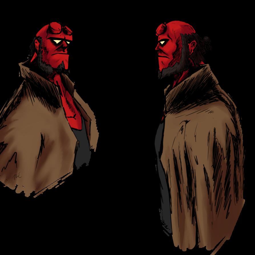 svg freeuse Hellboy drawing. Study by nickolash on