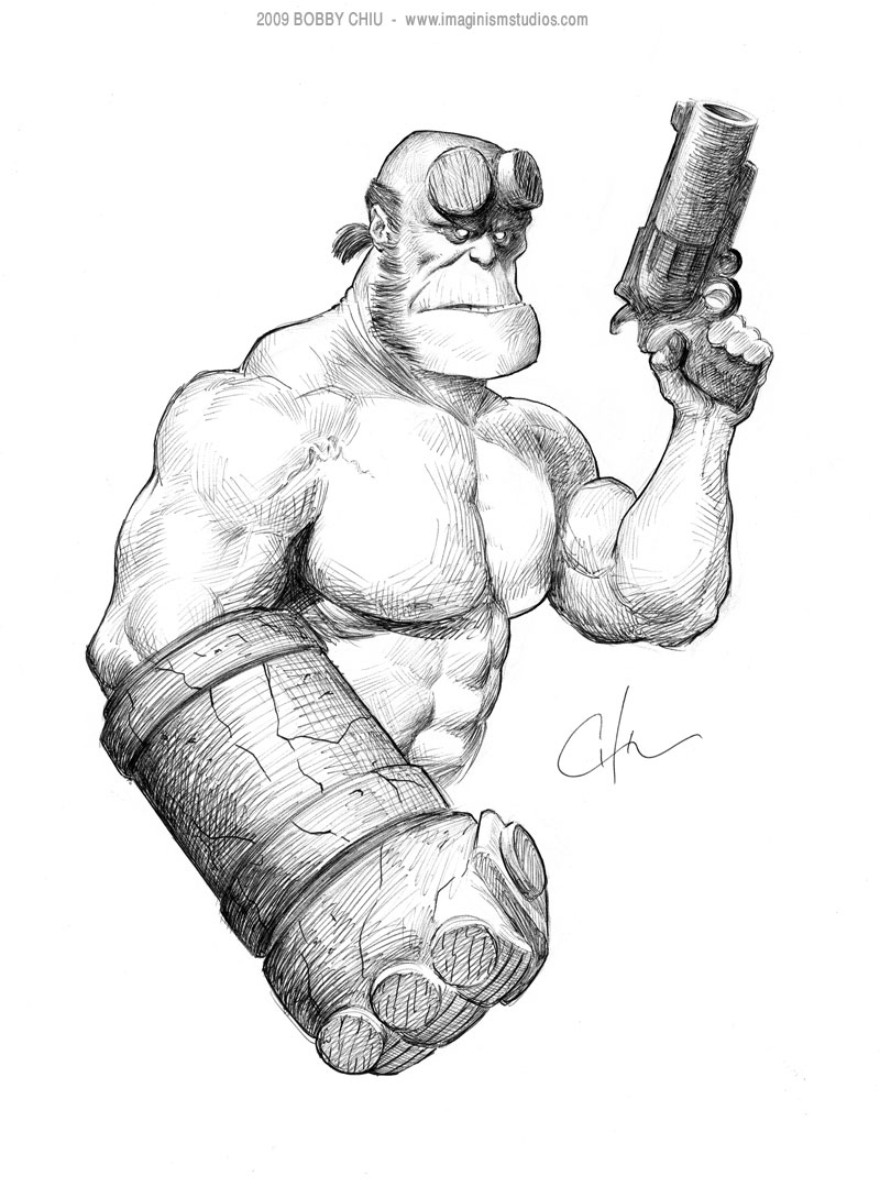 svg freeuse library Hellboy drawing arm. By imaginism on deviantart