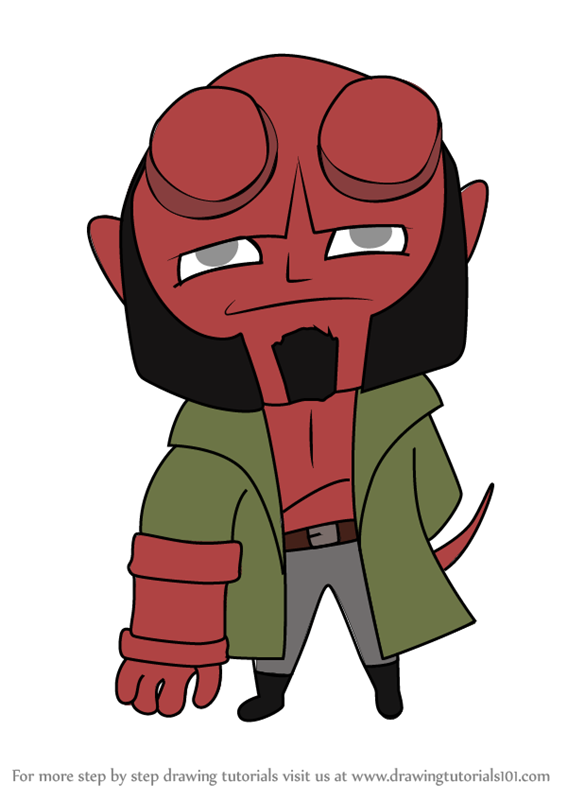 vector transparent stock Learn how to draw. Hellboy drawing chibi