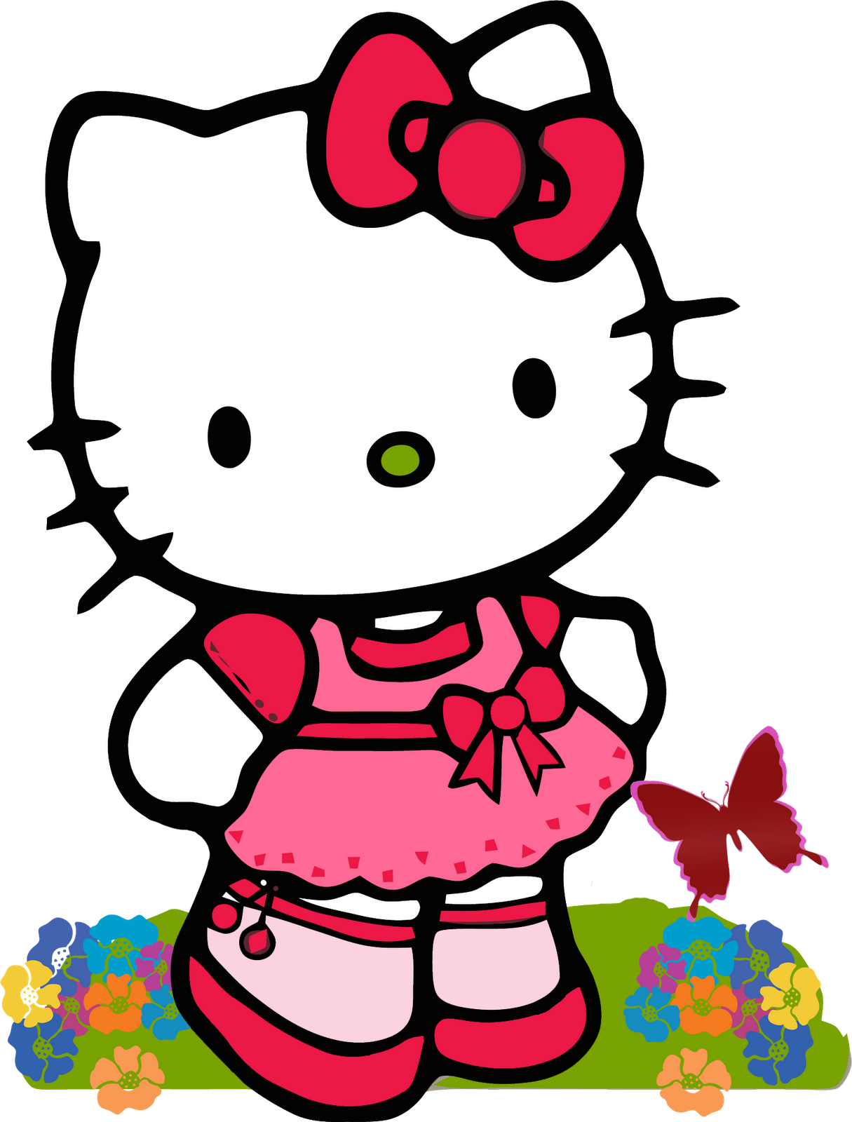 banner transparent library Hello kitty clipart black and white. Http saqibsomal com sanrio