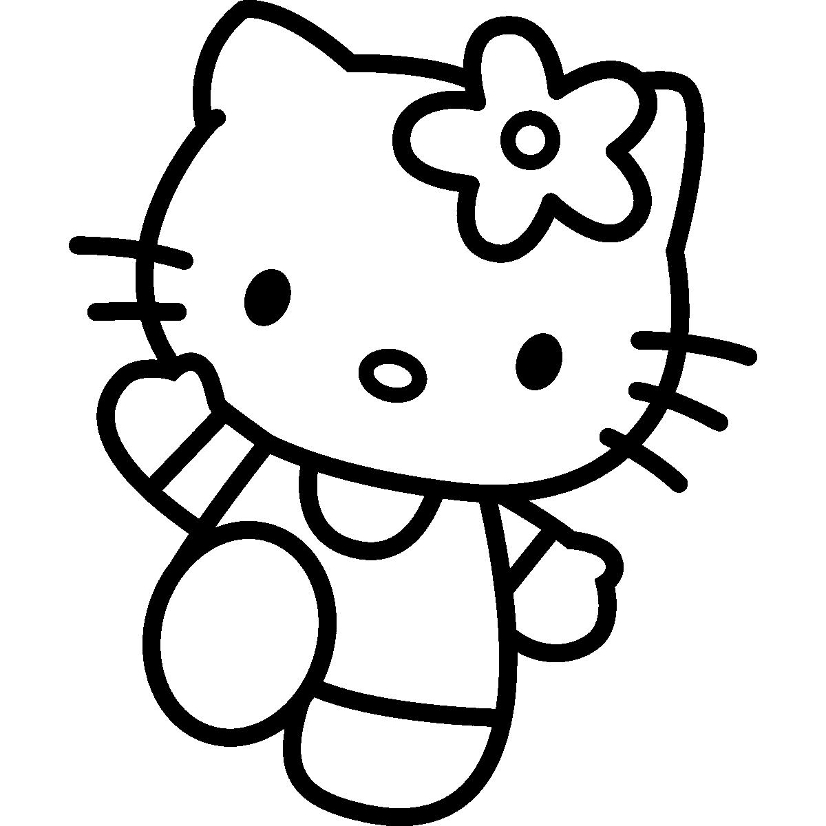 png black and white Silhouette at getdrawings com. Hello kitty clipart black and white