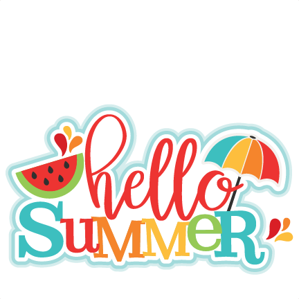 svg library stock Hello Summer Title SVG scrapbook cut file cute clipart files for