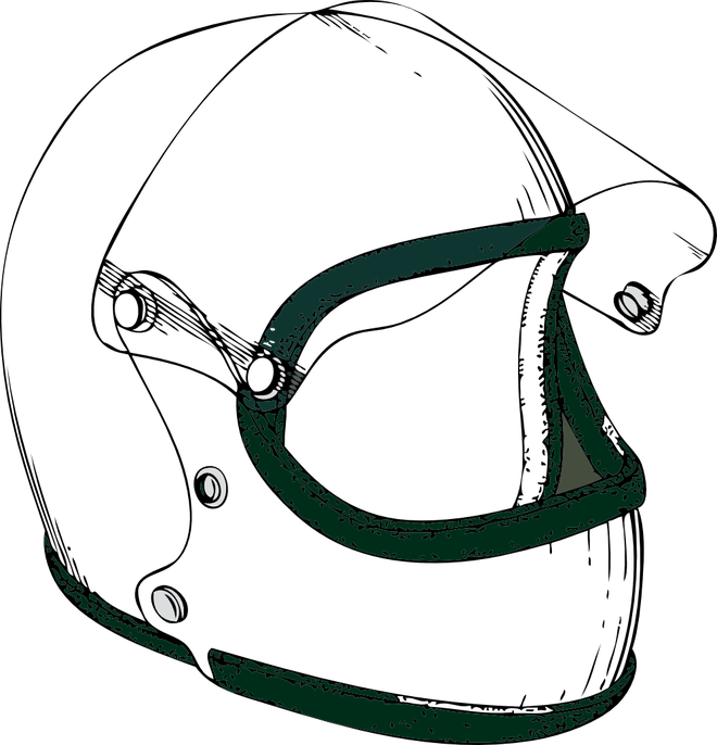 picture Motorcycle Helmet Clipart Black And White