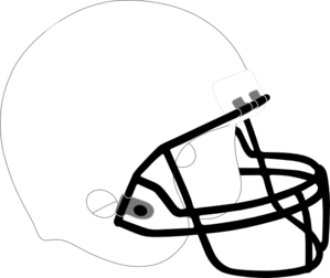 clip royalty free Football white black clip. Helmet clipart plain