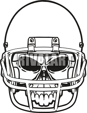 picture royalty free library Football Helmet Front Vector