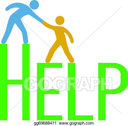 graphic library download Help clipart. Vector people step up