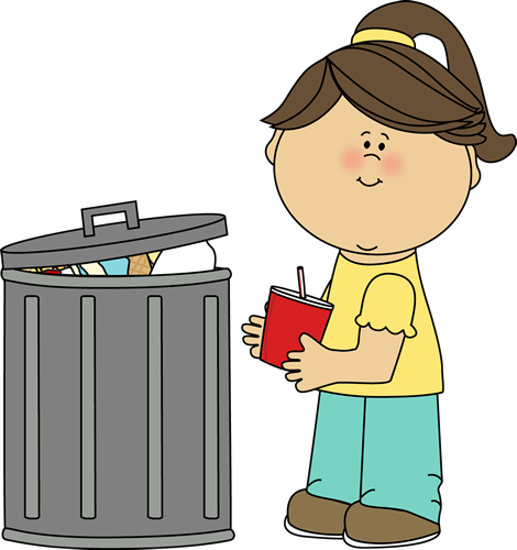 png black and white download Girl Picking Up Trash Clip Art