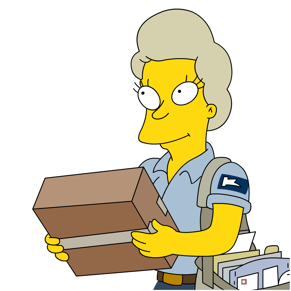 clipart freeuse stock Female carrier simpsons wiki. Mail clipart mail lady.