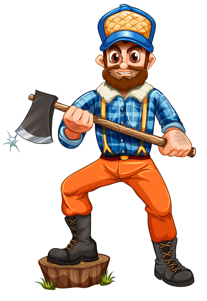 banner library stock Lumberjack clipart logger. Profiss es e of.