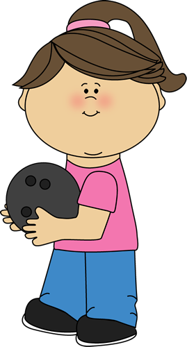 image black and white stock Writer clipart school. Girl with bowling ball.
