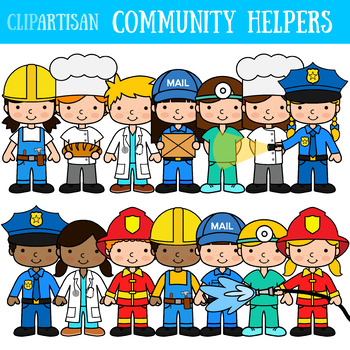 free Community clip art occupations. Helpers clipart.