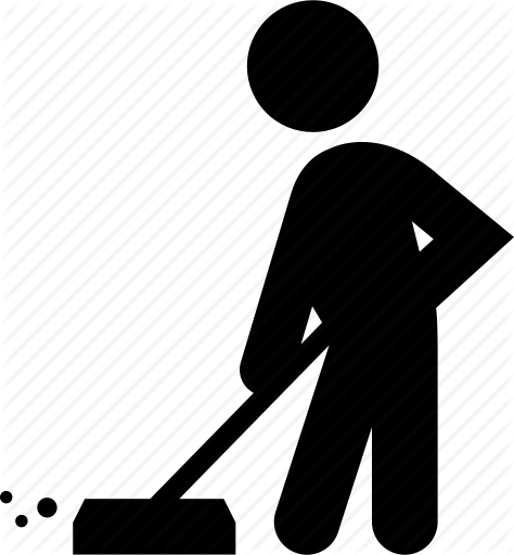 png freeuse library Broom sweep free on. Janitor clipart sweeper