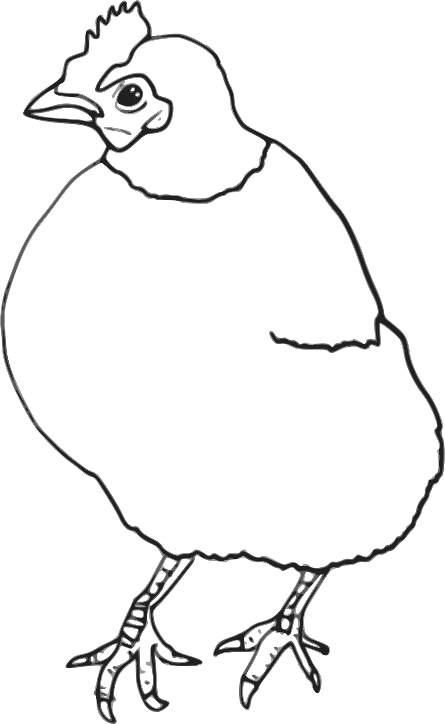 image free library Hen black and white clipart. Outline big image png.