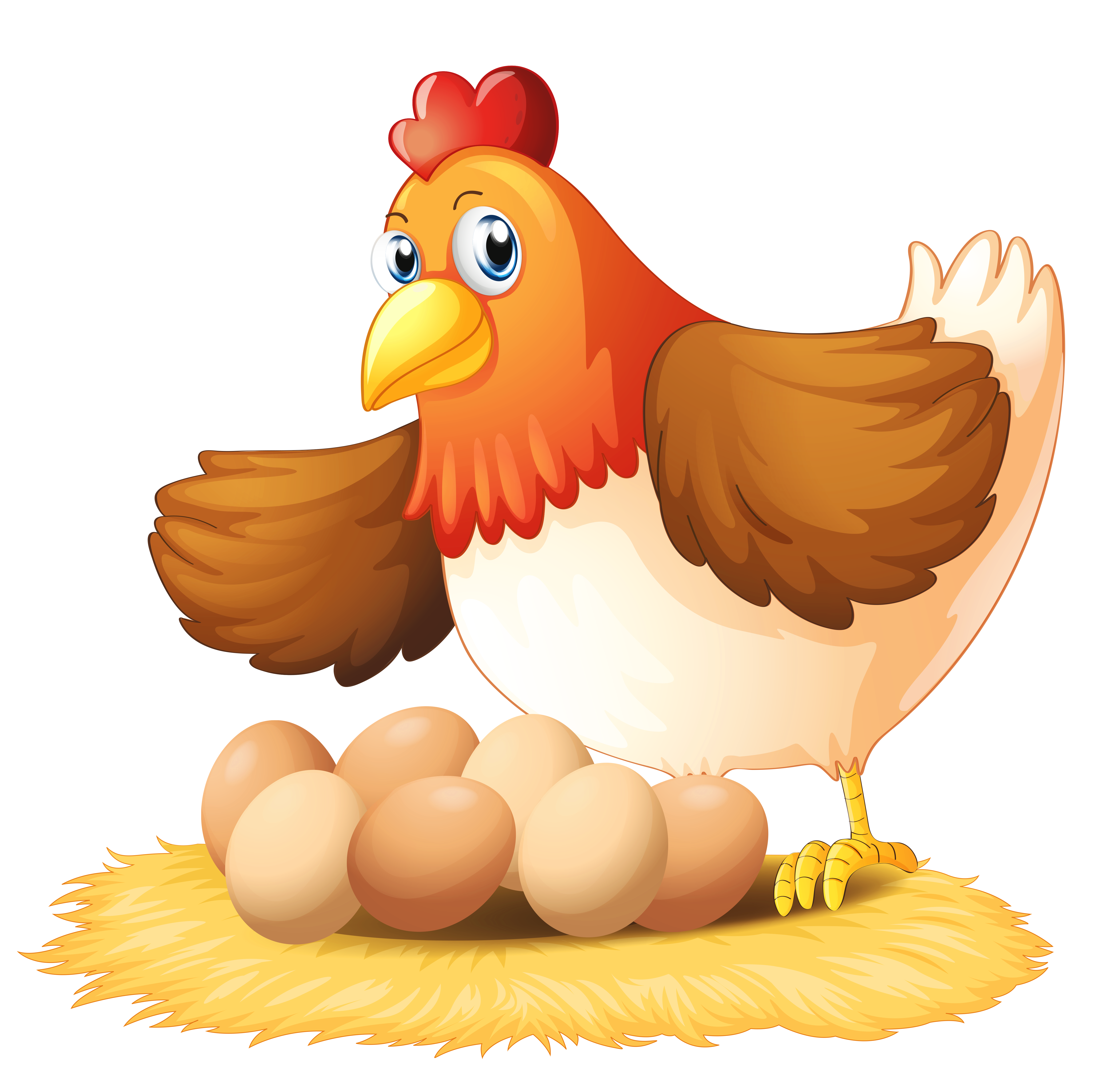 svg transparent Hen clipart. With eggs png gallery.