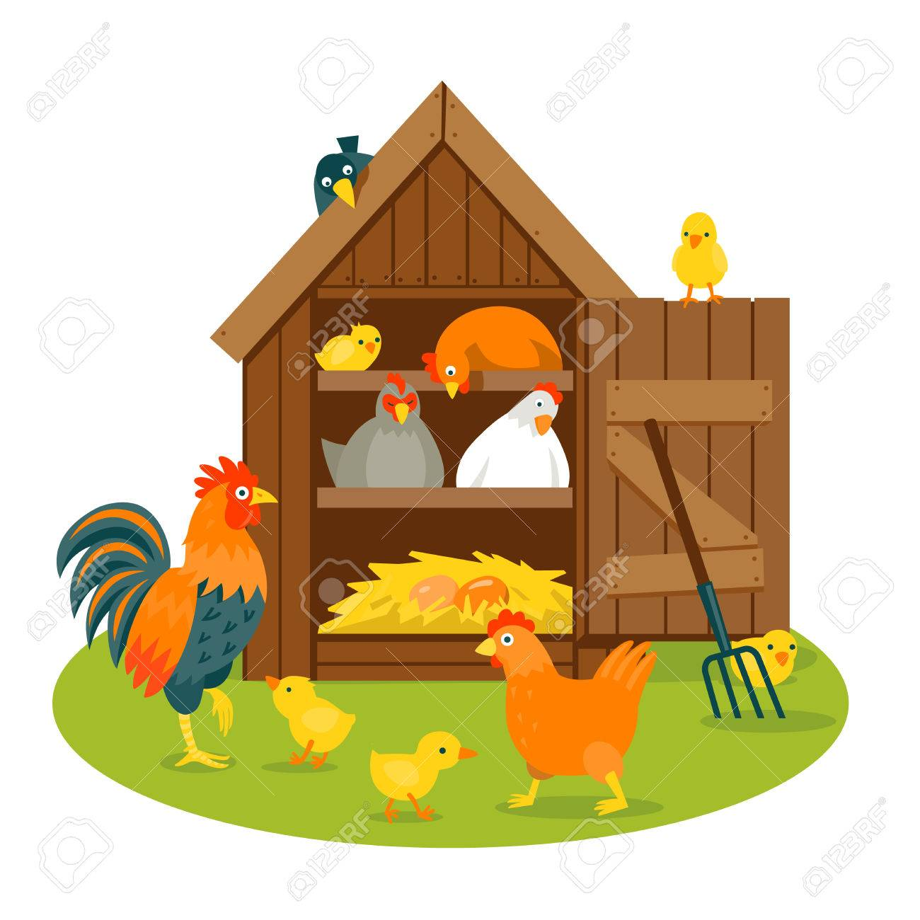 jpg freeuse library Free download best on. Hen house clipart.