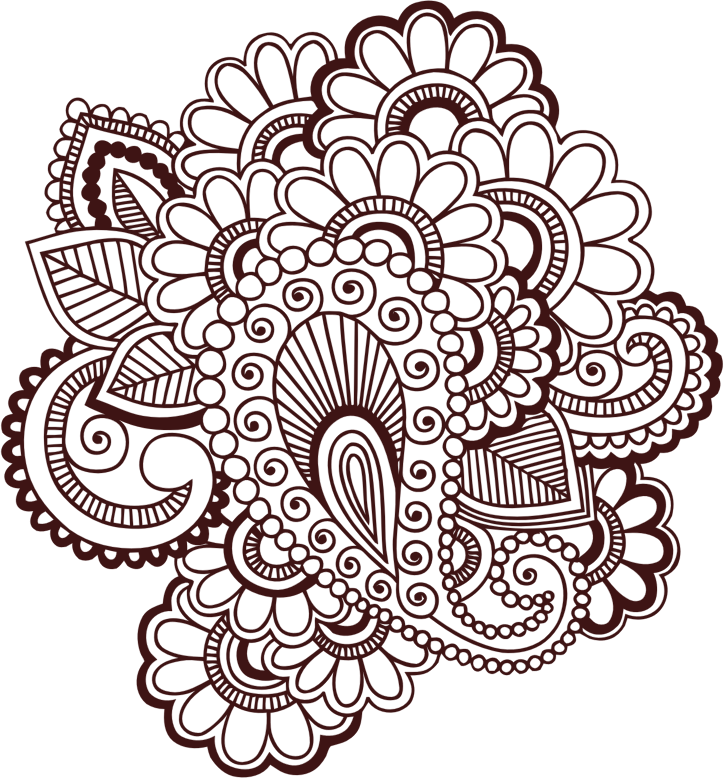 clip art black and white library Henna Clipart at GetDrawings