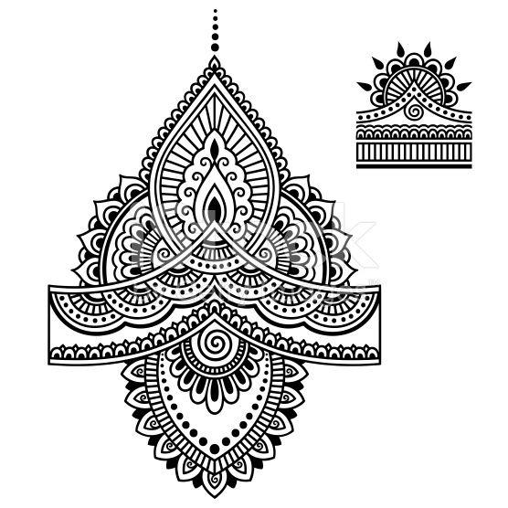 jpg freeuse download Henna tattoo flower template