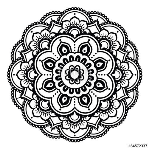 jpg transparent library Indian Henna tattoo pattern or background