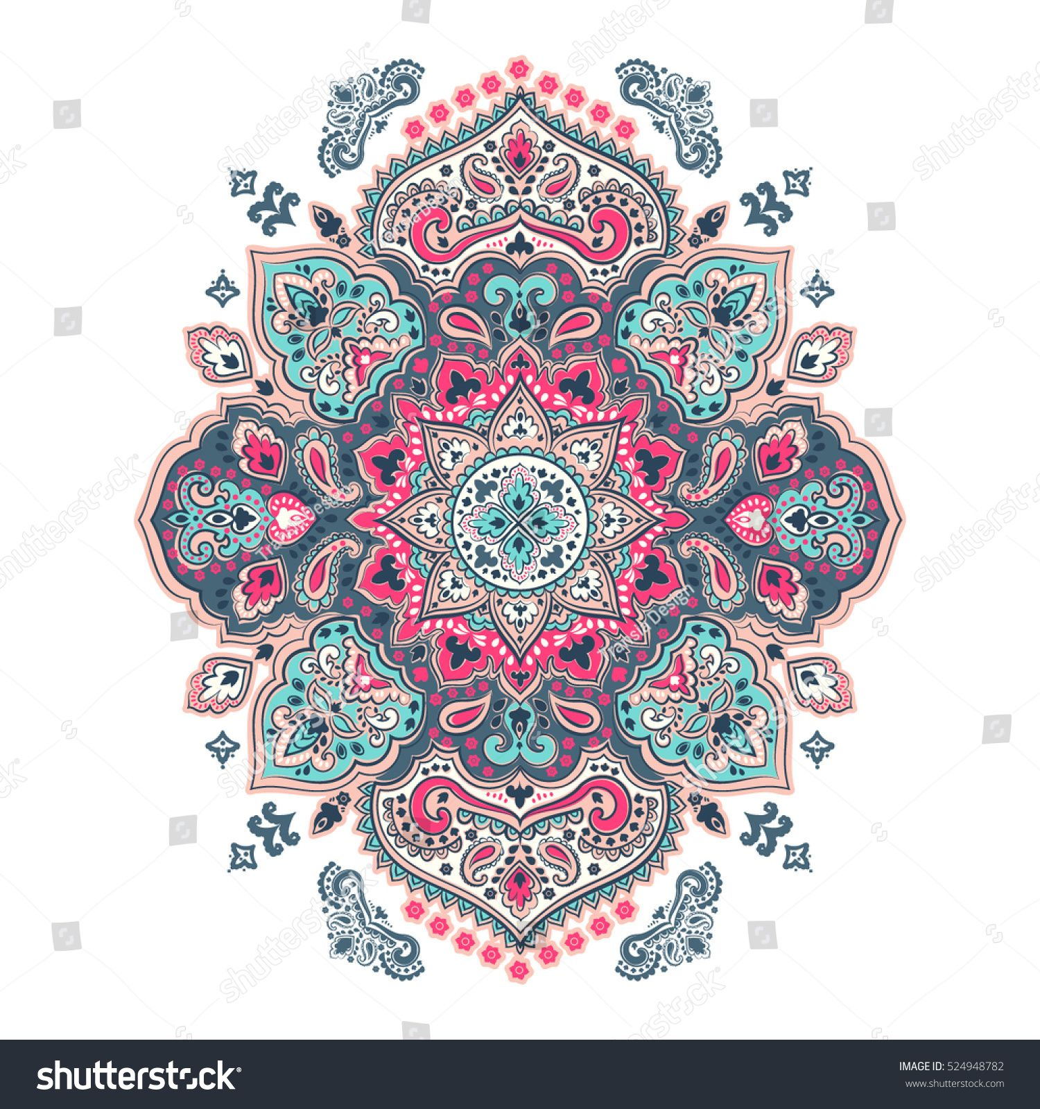 graphic freeuse Indian floral paisley medallion pattern