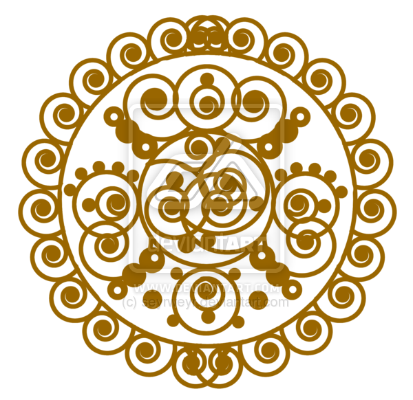 banner freeuse henna vector round #97647017