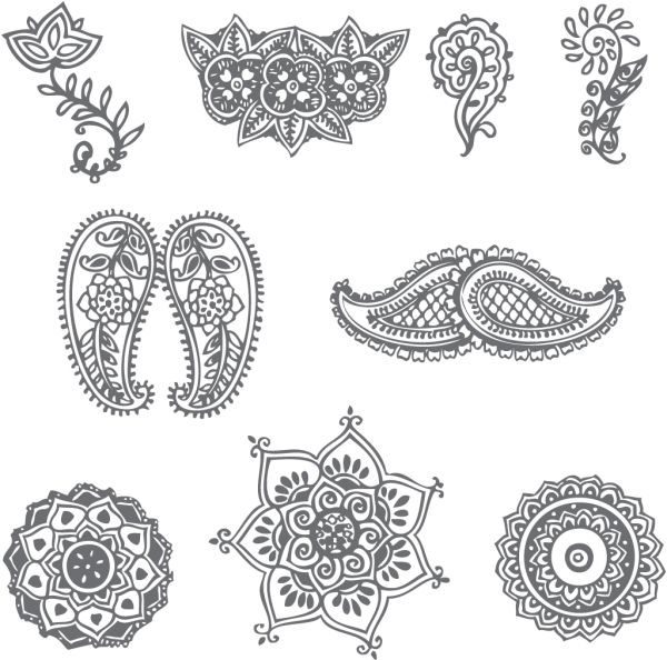 picture freeuse library These are a few very simple henna patterns