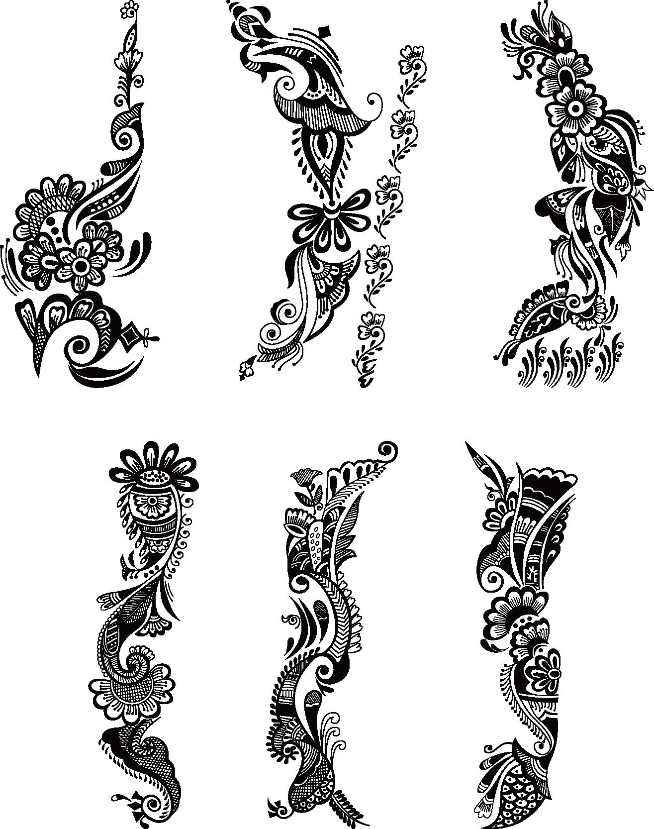 picture transparent stock Tattoo Mehndi Henna