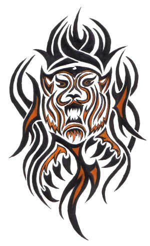 clip art download tribal tiger designs Tiger Tribal Png