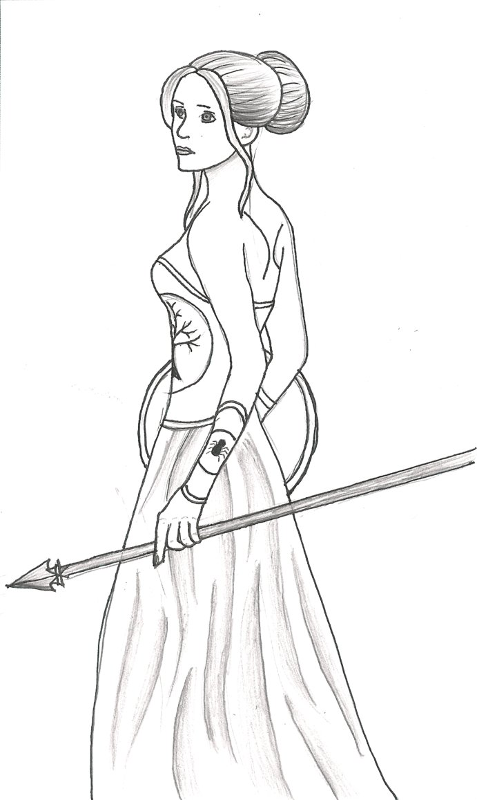 clip art black and white library Athena Drawing