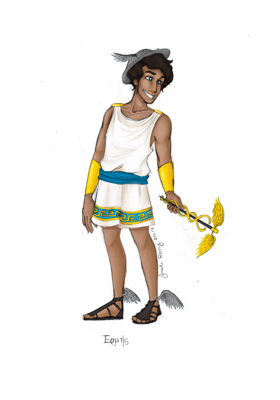 jpg transparent stock Greek god by jadeariel. Hermes drawing percy jackson