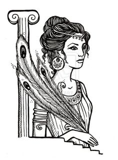 vector library download Hera drawing staff.  best images in