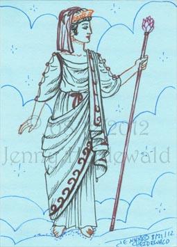 svg free stock Emg zine ancient greece. Hera drawing staff